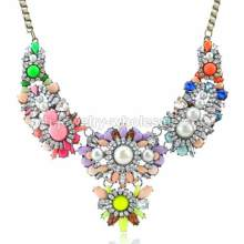 2014 nouvelle résine Bib colliers bonbons couleur cristal perle