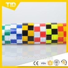 a cuadros de cinta reflectante, comprobador de cinta reflectante de ajedrez, cinta reflectante de PVC