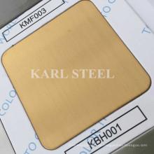 201 goldenes Farbe Haarlinie Kbh001 Blatt aus rostfreiem Stahl