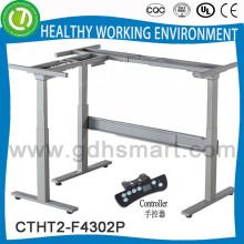 электрический высота регулируемый рабочий стол с колонкой 3 ноги 2 и лицевая панель & большие продажи сидеть на ножках стола