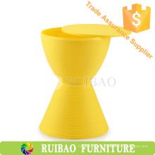 Nuevo diseño de muebles de diseño de muebles Taburete de plástico colorido ronda tambor taburete