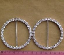 rhinestone diamante round buttons buckles