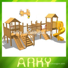 2014 hot children outdoor wood playground for exercise