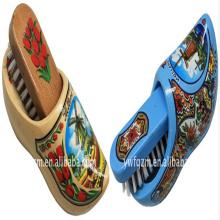 Escova de sapato holandês de madeira