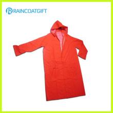 PVC / Polyester PVC Langarm Wasserdicht Sicherheits Regenmantel