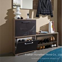 Gabinete de sapato de madeira de venda quente (HF-EY08147)