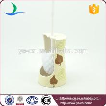 YSb50132-th New white ceramic toilet brush holder wholesaler for hotel