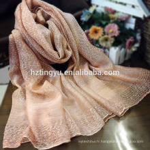 Usine directement la vente de mode style marque véritable foulard en soie hijab