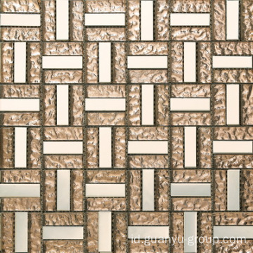Permukaan halus Stainless Steel dan Glass Mosaic