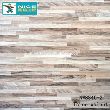 NWseries Three walnut Parquet wood flooring HDF core Parquet Flooring