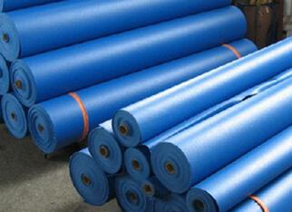 double blue pvc tarpaulins