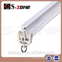 hotel plastic curved curtain track for curtain