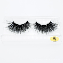 3D 5D 25mm Real Mink Fur Material Strip Eye Lashes Wholesale with Customized Packages