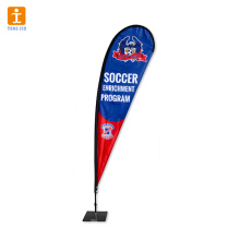 Promotional fabric banner flag
