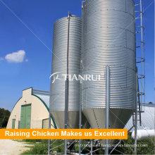Puerto agrícola diseñado sistema de silo de alimentación de acero de aves de corral durable para la venta