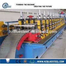Controle de PLC e Estação Hidráulica Metal Steel Highway Guardrail Making Machine, Highway Guardrail Sheet Roll formando máquina