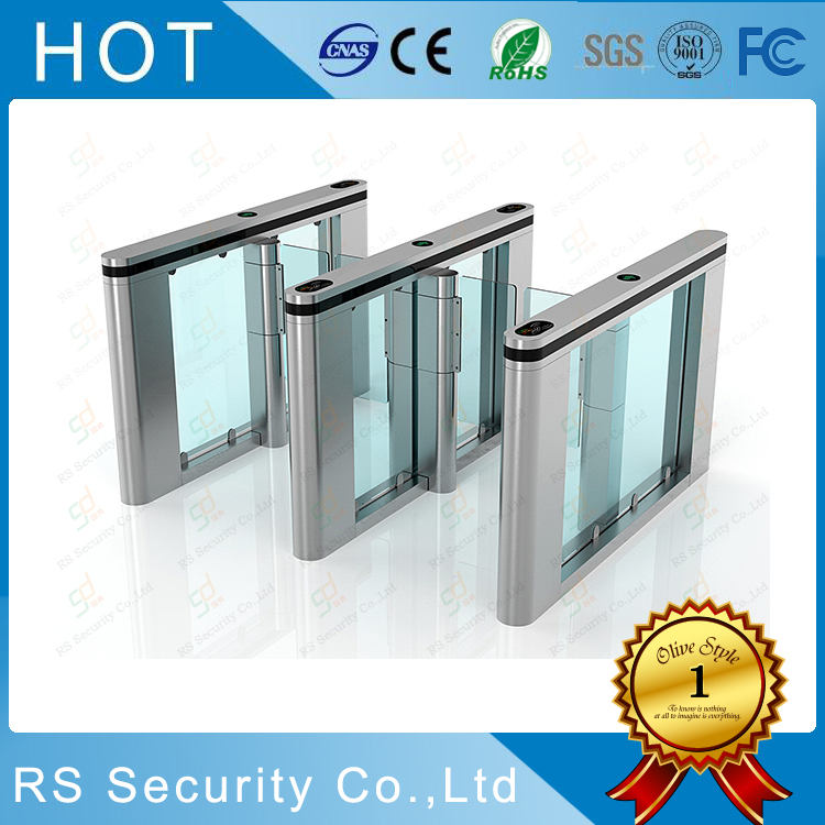 قارئ بطاقة RFID Speedgates Glass Turnstiles