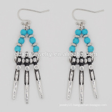 Latest Design Fashion Vintage Turquoise Stunning Cheap Tassel Earrings For Women SSEH011