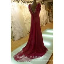 EN STOCK Vestido rojo de seda verdadero SE17 del vestido de las mujeres del vestido de partido de la cucharada