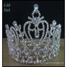 Tiaras de plata de la boda de la tiara de los cabritos de la tiara de la joyería de la boda