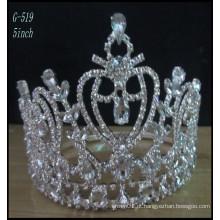 Casamento Prata jóias Tiara crianças princesa Tiara atacado crianças pente tiaras