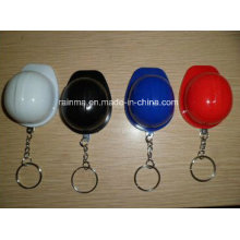 Plastic Safety Helmet Keychain with LED Light
