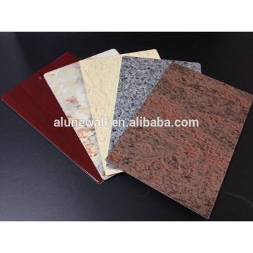 Мраморный Цвет панели PVDF алюминиевая составная для украшения