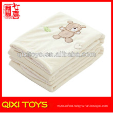 100% polyester teddy bear baby fleece blanket baby soft toy blankets