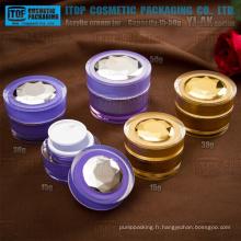 YJ-AK série spéciale conique 15-50g double couches en plastique acrylique pot de crème
