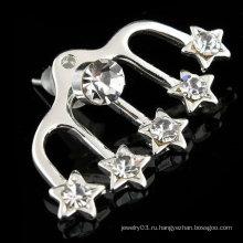 Мода Дизайн Свадьба Rhinestone серьги ювелирные изделия ухо манжеты ухо клип EC06