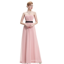 Starzz Strapless Strapless Off Shoulder Pink Chiffon Long Bridesmaid Dress ST000066-4