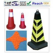 ПВХ гранулы/смесь ПВХ материалы для дорожного конуса