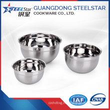 European design stainless steel soup bowl inner polishing outside satin
