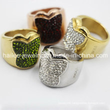 2015 Latest Stainless Steel Fashion Butterfly Ring Jewellery