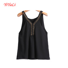 Summer Women Bradde Chain Vest Fashion Top