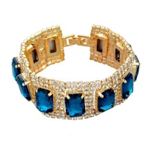 Austrian Gold/Silver Crystal Bracelet For Women