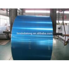 Aluminum coil with plastic film