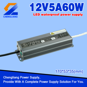 AC DC 12V 5A Waterproof Power Supply