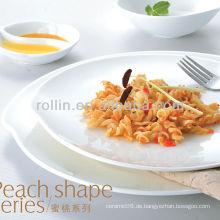 Pfirsichform Serie Hotel weißes Porzellan Geschirr, Geschirr Set, Porzellan Geschirr