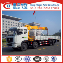 Dongfeng new Kinland 8x4 telescopic arm truck crane for sale