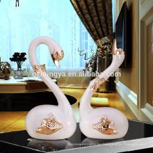 Estatuillas de cisne para la venta, adornos para el hogar, regalos ceremonia de inauguración cisne cisne estatua