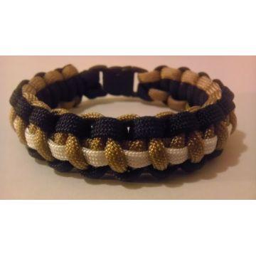 Bracelet couleur paracorde polyester et logo OEM