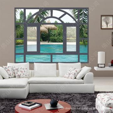 Гриль окон Windows алюминиевого сплава декоративный / окно створки с шторками