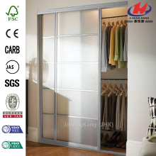 Tempered Glass Bedroom Cabinet Interior Sliding Glass Door