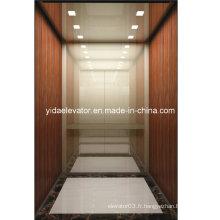 Ascenseur de passager de haute qualité avec placage en bois