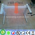 ROSNEFT OIL manual crank 2 legs height adjustable office desks frame