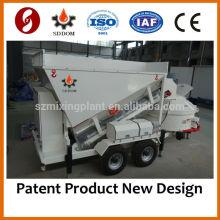 MB1200 Pequeña planta mezcladora de hormigón móvil 10-16m3 / h