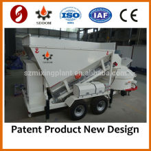 MB1200 Small Mobile Concrete Batching Mixing Plant 10-16m3/h