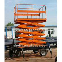 Mobile Scissor Lift -1500kg.Capacity, 15m.Platform Height, Ac220v