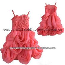 Único bordado applqued ruffled falda caliente real muestra de flores de sandía vestido de desfile de la princesa CWFaf5321